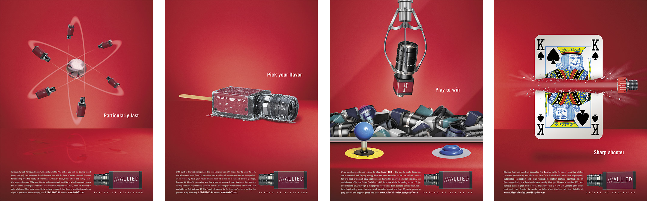 Allied Vision creavtive advertising by Strand Marketing